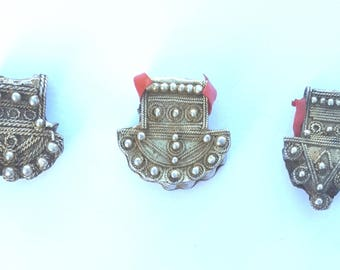 Mauritania (3) old silver hair bead ornaments