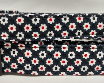 Black with Daisies Dog Collar