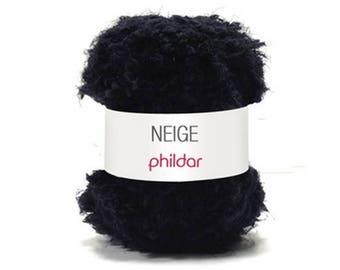 wire snow phildar black knit