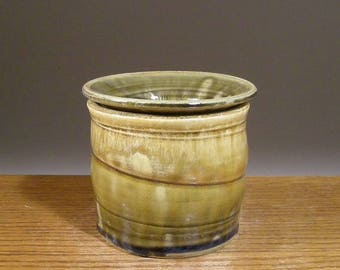 Stoneware Pottery , Dip Chiller , Cool Dip Pot , Serving Bowl , Vegetable Dip Pot , by Jon Whitney Pottery