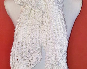 Snow White Lace Scarf
