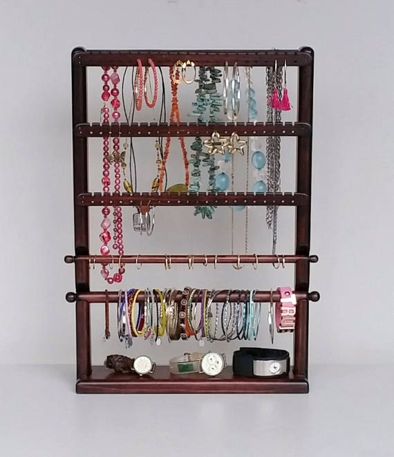 Ring holder necklace Earring Holder Jewelry Organizer Jewelry