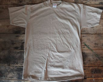 Vintage Poly Cotton T-Shirt | Size Large | Made in USA