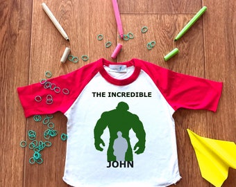 Superheroe Hulk T-shirt-Custom Hulk Shirt-Superheroe Custom Shirt-Hulk Personalised Tee-Little Boy Shirt-Hulk Boys Costume-Superheroe Onesie
