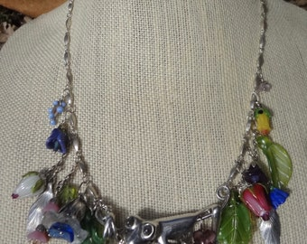 Vintage Solid Silver Tree Frog Necklace—OOAK