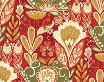 Allure Red Floral 16100-16 from Moda by the yard
