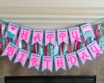 Cupcake Birthday Party Decorations - Sweet Girl Banner - Cupcake Birthday Banner - Cupcake Banner - Cupcake Party Decorations -Sweets Banner