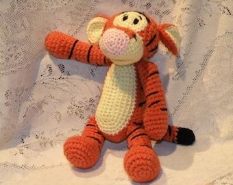 INSTANT DOWNLOAD - PDF - Tigger - the Winnie the Pooh's friend - 11.2 inches / 28 cm amigurumi crochet pattern