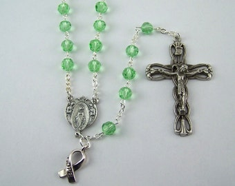Light Green Awareness Rosary
