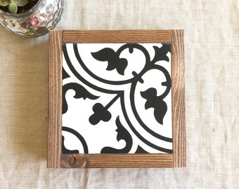 Tile Pattern Wood Sign | Pattern Wood Sign |  Mini Wood Sign | Farmhouse Decor