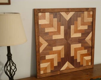 Wood Wall Art, Geometric design