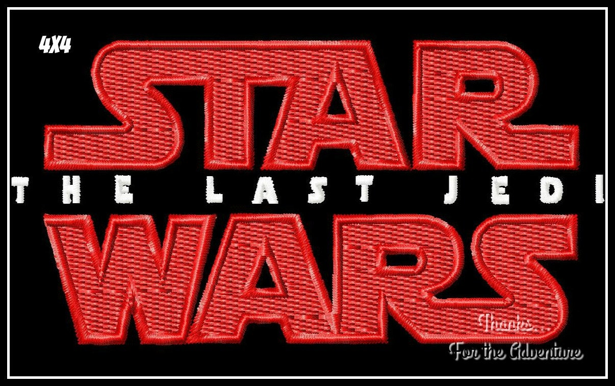 Der letzte Jedi Star Wars Logo Digital Maschine Applique Design ...