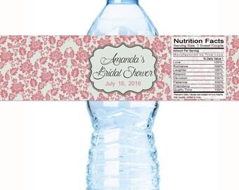 Wedding Favors - Bridal Shower Water Bottle Labels - Bridal Shower Decor - Bridal Shower Stickers - Bottle Wraps