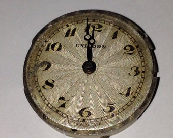 Rare Antique Early Rolex Unicorn Watch Dial And Movement