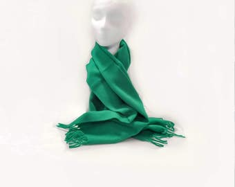 Green Lambs Wool Scarf Italy North Country Eatons Unisex Clothing Accessory