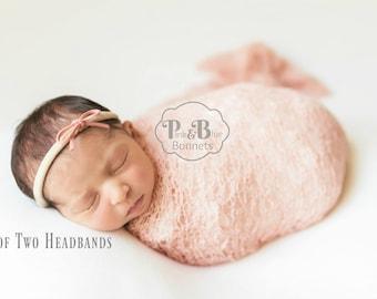 Newborn girl headbands, baby girl headband, newborn nylon headband, baby girl nylon headband, toddler headband, skinny headband