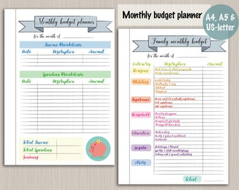 Budget planner printable template - digital PDF bujo bullet journal pages - monthly budget plan template budget planner printable