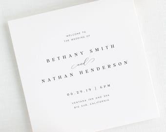 Bethany Wedding Programs - Deposit
