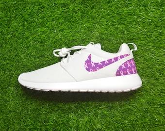 Breast Cancer Awareness Pink Ribbon Custom Nike Roshe Run One Shoe Sneaker  - Grade School Boys