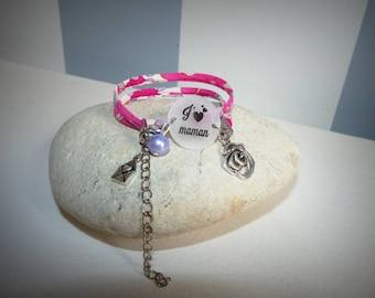 "Liberty bracelet ""I love MOM"""