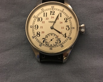 UNITAS ANTIQUE 1910 SWISS Large Wristwatch