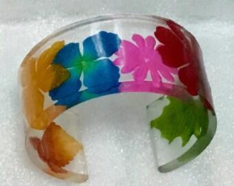 Unique, colorful cuff bracelet