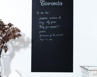 Toronto adhesive chalkboard - Skyline of Toronto CN tower Rogers center Royal Ontario museum crystal customizable wall sticker