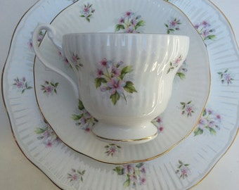 Royal Dover china cup saucer and dessert plate set