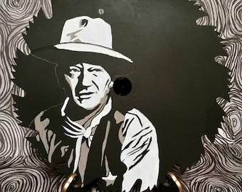 Hand Painted John Wayne Circular Saw Blade