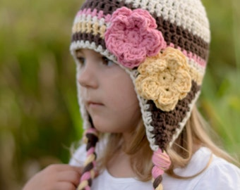 girls hat, girls winter hat, crochet hat for girls, girls hat, baby girls hat, crochet , little girls hat, girl hat, newborn, baby girl hat