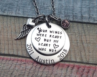 Engraved memorial necklace, Memorial Jewelry, Sympathy, Funeral Gift, Remembrance Jewelry, Sympathy Jewelry, Grief Jewelry
