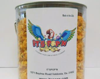IT'SPOP'N Gourmet Popcorn Seasoned/Savory with Reusable 1 Gallon Plastic Can