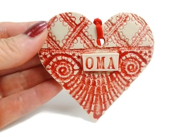 Oma Ornament, Grandmother Gift, Oma Birthday Gift, Baby Announcement Grandparent, Oma Christmas, Mother's Day Gift, Christmas Tree Ornament