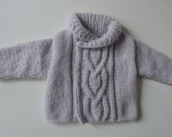 Shawl collar-knitted Cardigan