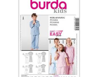 Pattern N 9747 Burda kids: pajamas