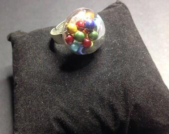 Simple half Sphere ring beads