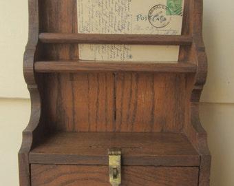 Vintage custom wood shelf organizer cubbby.