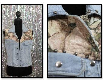 90's Silver River Denim Vest (XL)