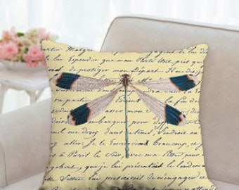 Designer Dragonfly Pillow