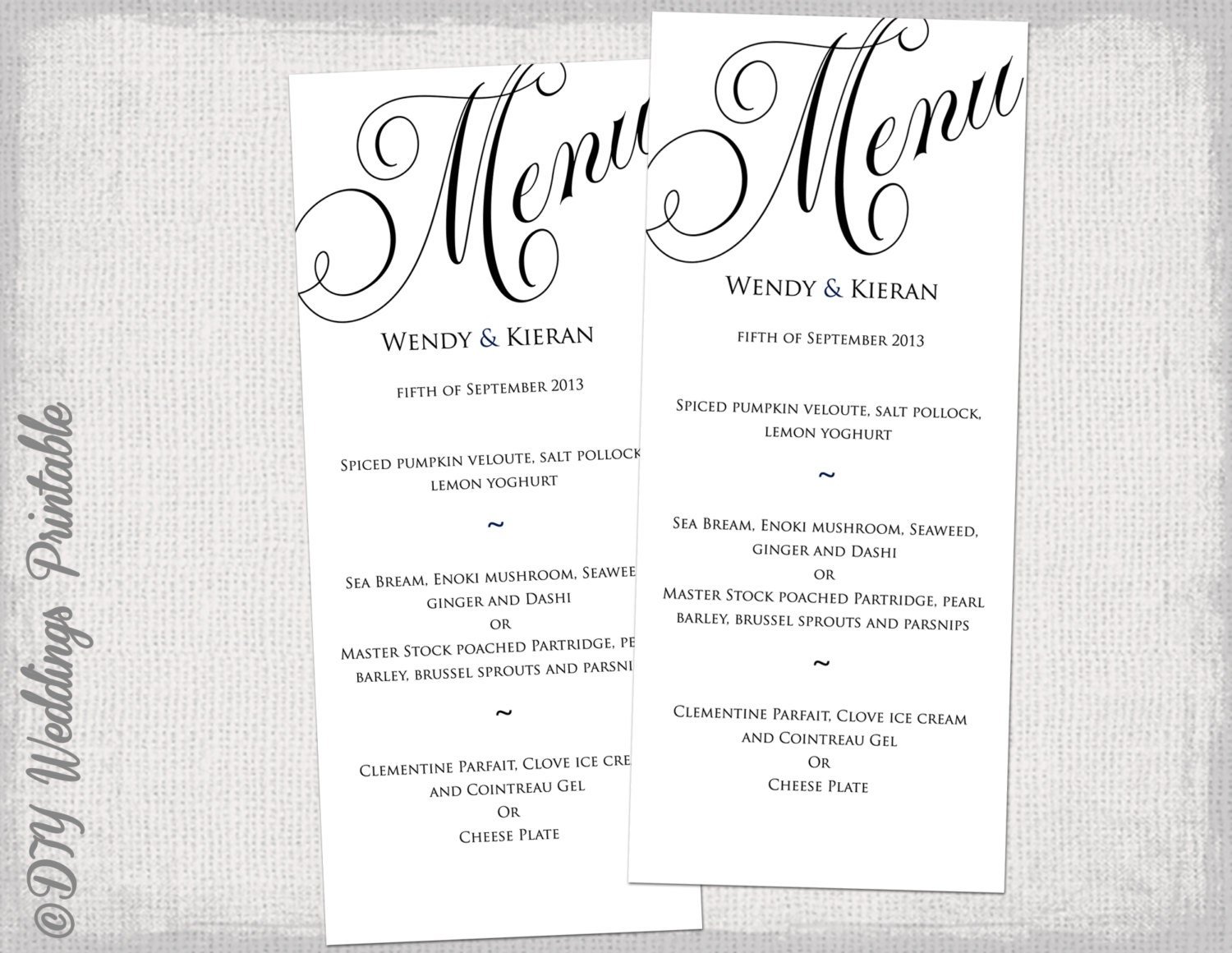 🔎zoom  Free Printable Restaurant Menu Template