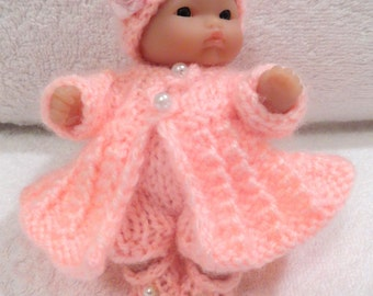 """Hand Knitted Dolls Clothes for 3,5-4""""  OOAK  Doll (# 58)"""