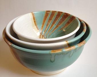 Beautiful Ceramic Nesting Bowls