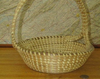 CLEARANCE large sweet grass basket with handle