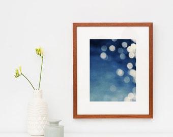 framed abstract art, indigo blue art print, framed wall art, modern abstract - Indigo Dream, framed photography art print