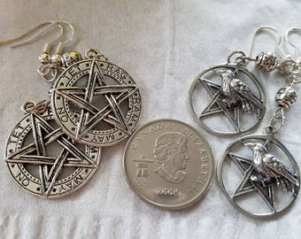 Gorgeous Witchy Pentacle earrings