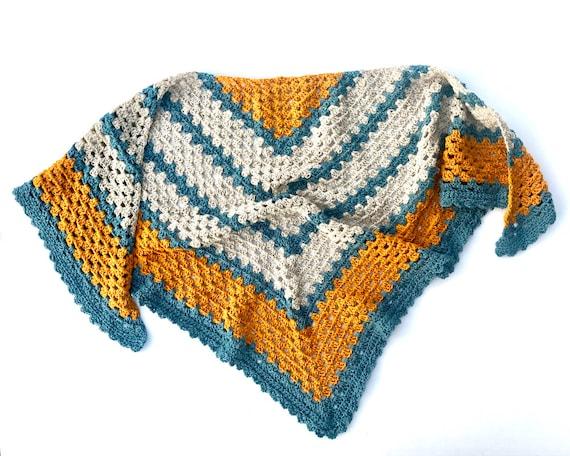 Crochet Triangle Shawl PATTERN - Easy Shawl Wrap - Crochet Triangle ...