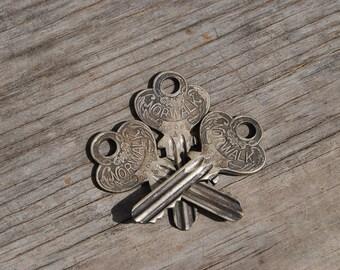 Three Vintage Flat Keys, Norwalk Flat Keys