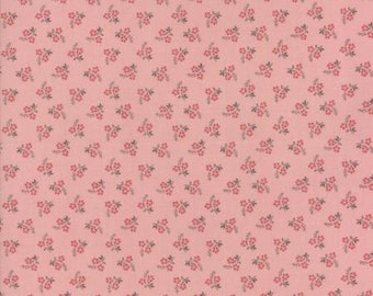Moda JARDIN de VERSAILLES-Floral rose pink-by French General  (13817 16)-by the YARD