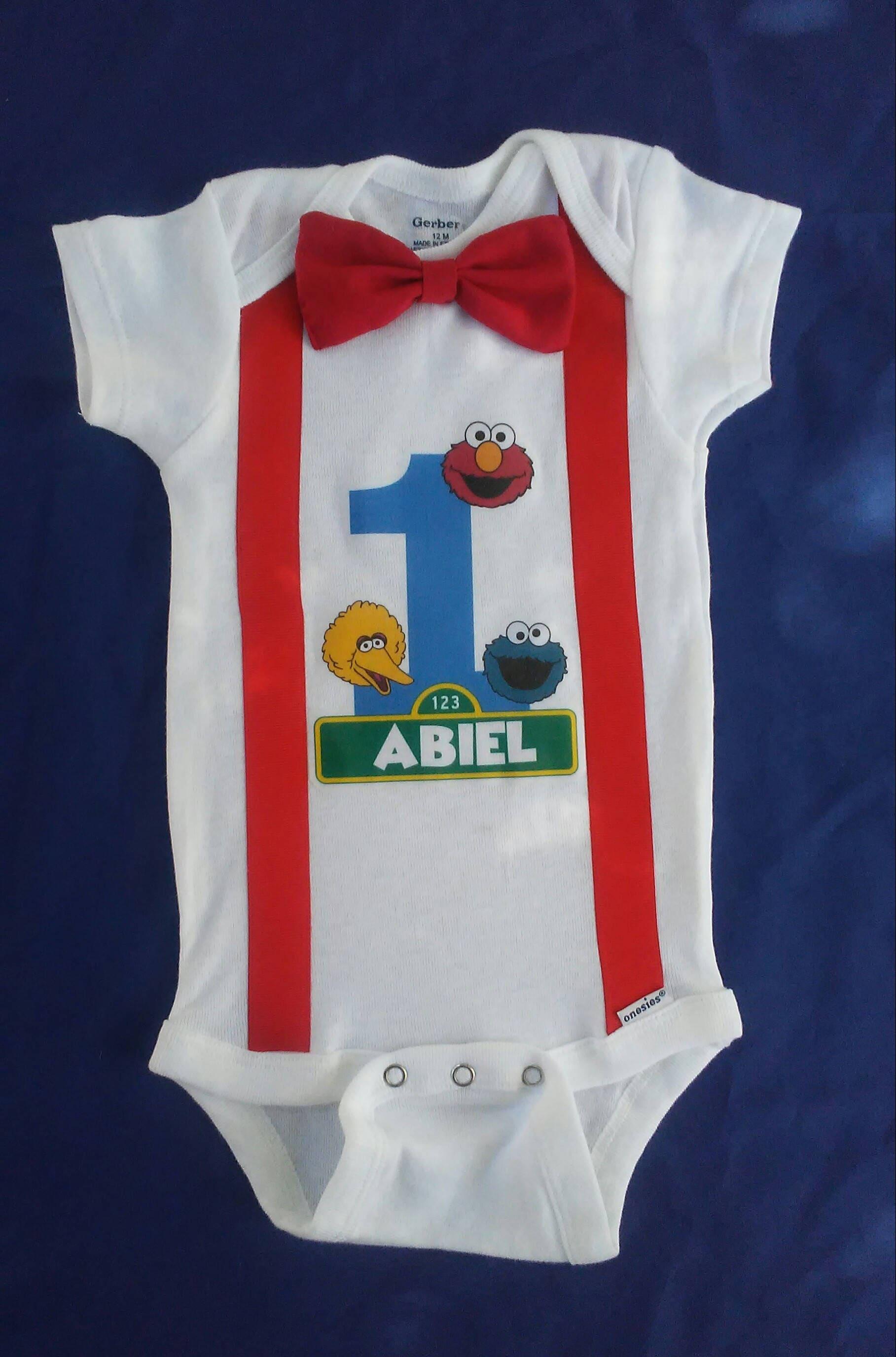Sesame Street Birthday esie Elmo Cookie Monster