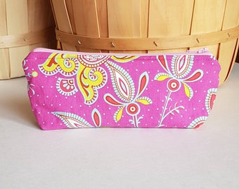 Small cosmetic bag, makeup brush bag, mini travel bag, make up bag, glasses case